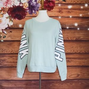 PINK Victoria's Secret Mint Green Sweatshirt